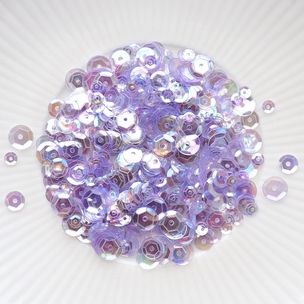 Little Things From Lucy's Cards PERIWINKLE Sequin Mix LB214 zoom image