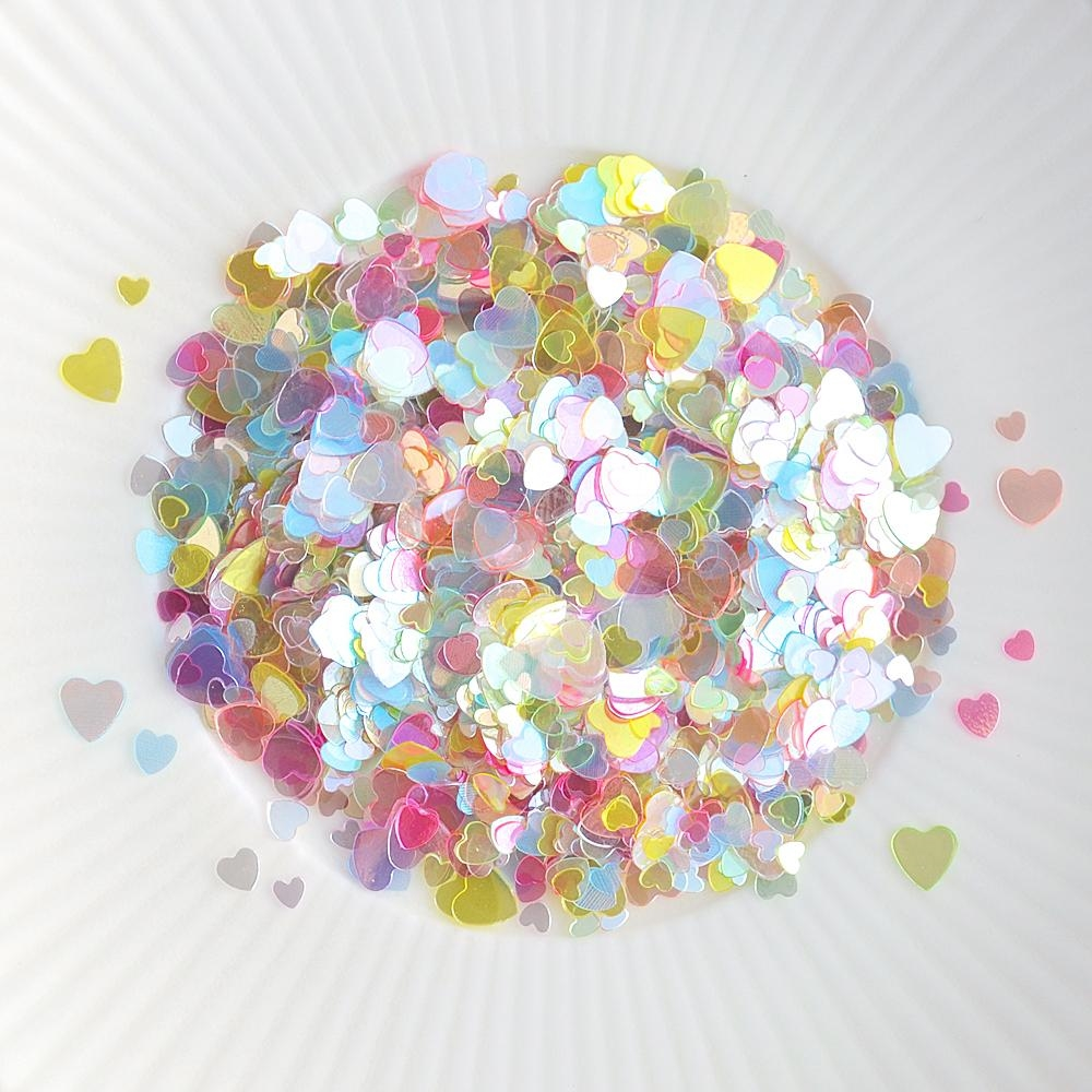 Little Things From Lucy's Cards Sprinkles SCATTERED HEARTS MULTICOLORED LB223 zoom image