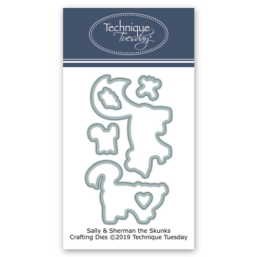 Technique Tuesday SALLY AND SHERMAN SKUNKS Crafting Dies 02765 Preview Image