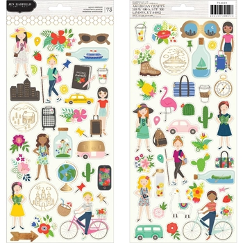 Pebbles Inc. Jen Hadfield ICON STICKERS Chasing Adventures 734022