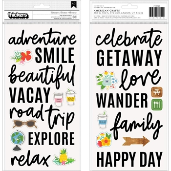 Pebbles Inc. Jen Hadfield ADVENTURE Foam Phrase Stickers 734020