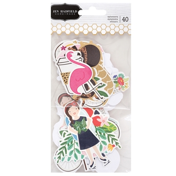Pebbles Inc. Jen Hadfield ICONS EPHEMERA Chasing Adventures Die Cut Shapes 734027