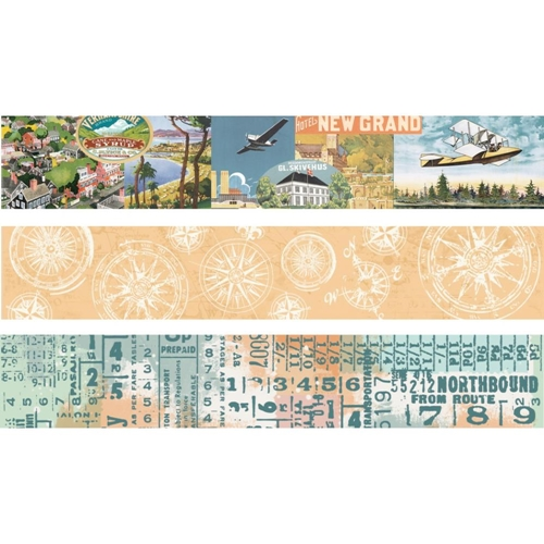 Simple Stories VINTAGE TRAVELER Washi Tape 10463 Preview Image