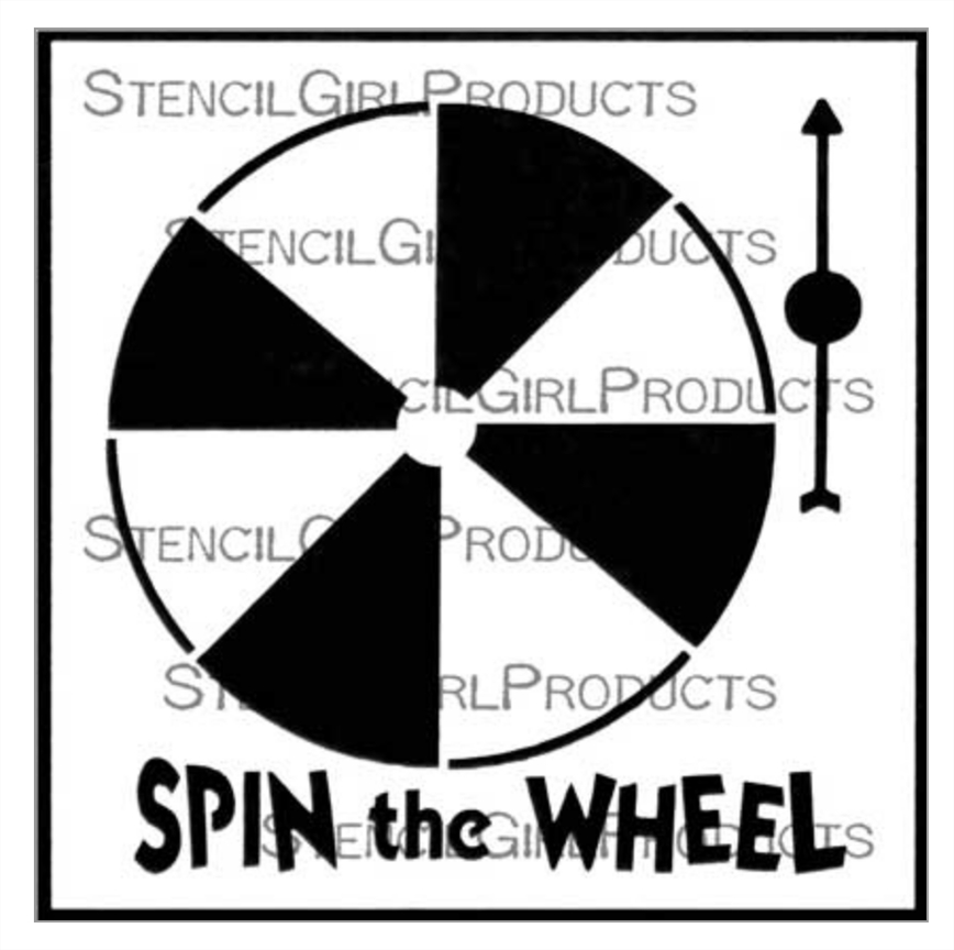 StencilGirl SPIN THE WHEEL 6x6 Stencil s668 zoom image