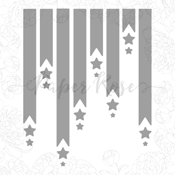 Paper Rose BANNER AND STARS Craft Dies 17664