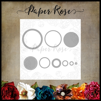 Paper Rose LOTS OF CIRCLES Craft Dies 17265