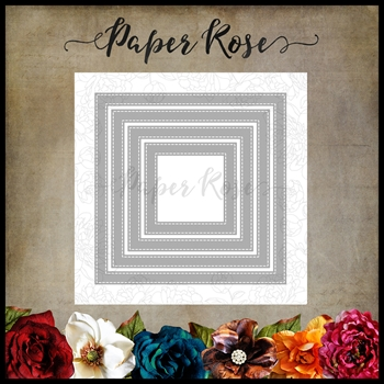 Paper Rose STITCHED SQUARE FRAMES Craft Dies 16685