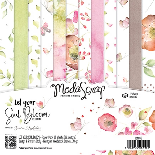 Modascrap Let Your Soul Bloom 6x6 Paper Pad