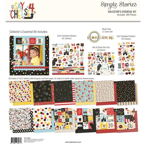 Simple Stories SAY CHEESE 4 12 x 12 Collector's Essential Kit 10548 Preview Image