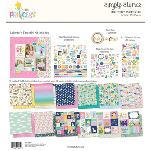 Simple Stories LITTLE PRINCESS 12 x 12 Collector's Essential Kit 10574 Preview Image