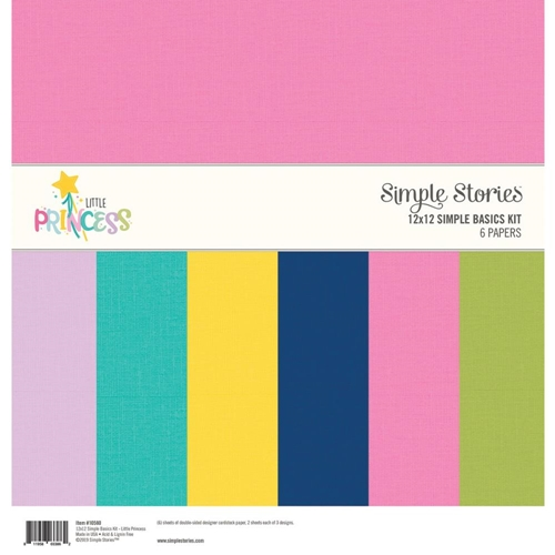 Simple Stories LITTLE PRINCESS 12 x 12 Basics Kit 10580 Preview Image