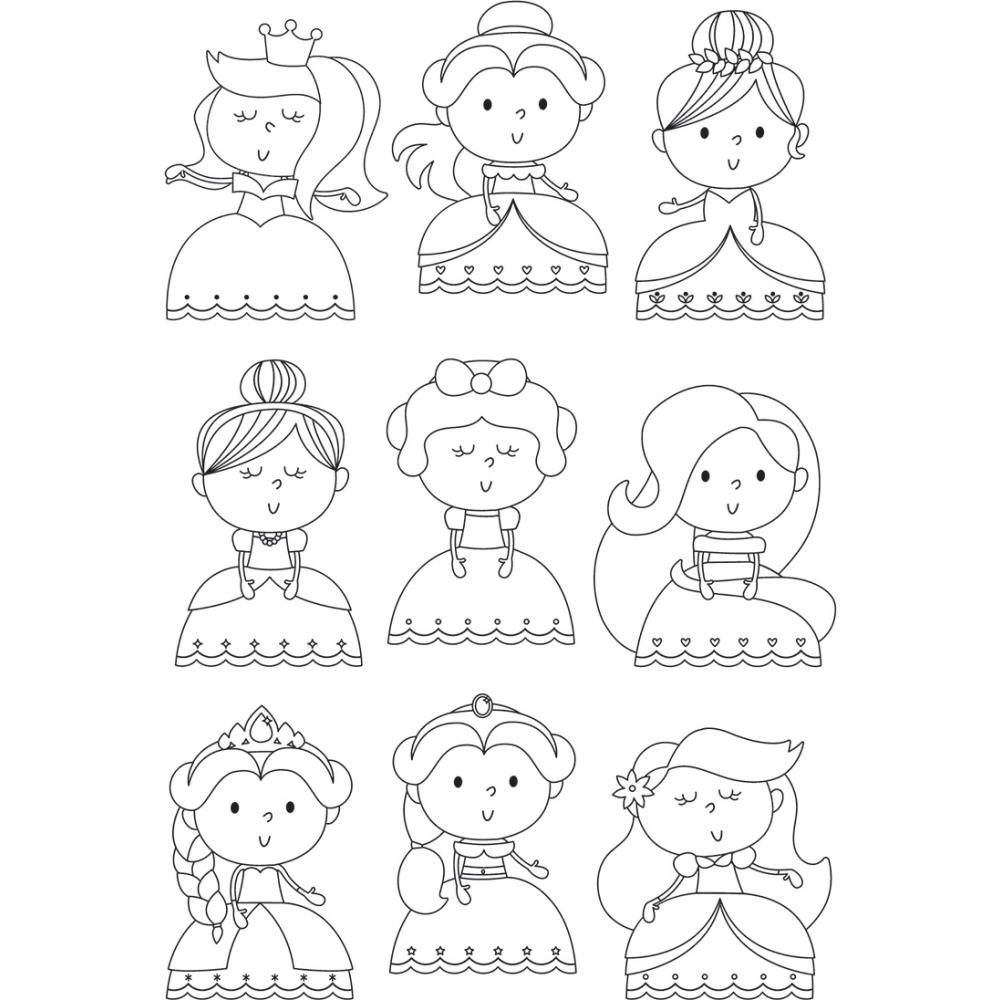 Simple Stories PRETTY Little Princess Clear Stamp Set 10745 zoom image