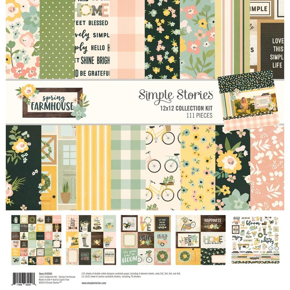 Simple Stories SPRING FARMHOUSE 12 x 12 Collection Kit 10583 zoom image