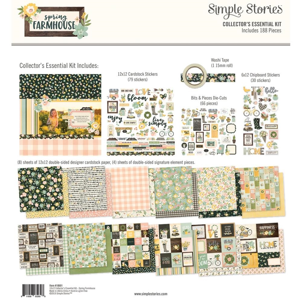 Simple Stories SPRING FARMHOUSE 12 x 12 Collector's Essential Kit 10601 zoom image