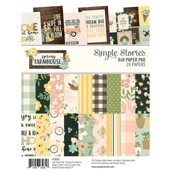 Simple Stories SPRING FARMHOUSE 6 x 8 Paper Pad 10762