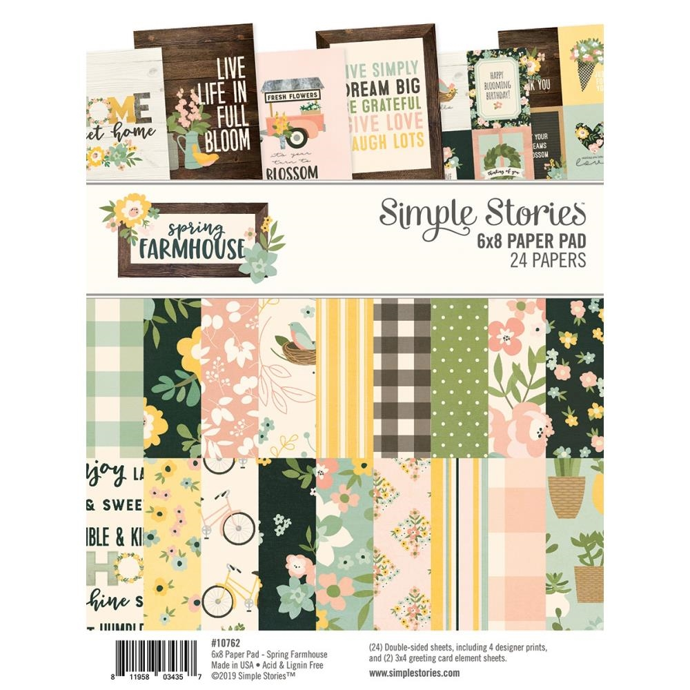 Simple Stories SPRING FARMHOUSE 6 x 8 Paper Pad 10762 zoom image