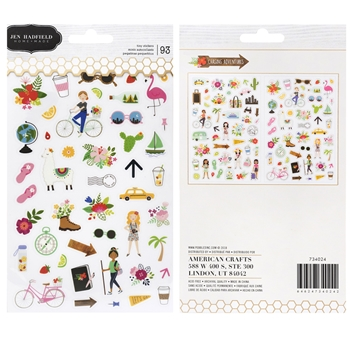 Pebbles Inc. Jen Hadfield TINY STICKERS Chasing Adventures 734024
