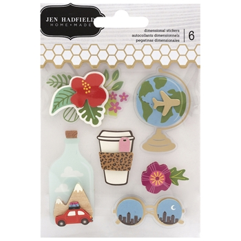 Pebbles Inc. Jen Hadfield LAYERED STICKERS Chasing Adventures 734031