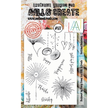 AALL & Create SKETCHED HAPPINESS Clear Stamp Set aal00177