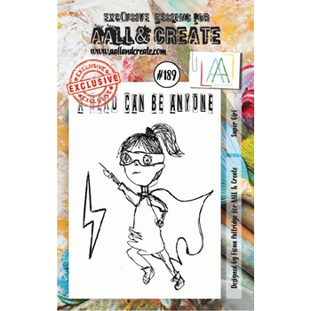 AALL & Create SUPER GIRL Clear Stamp Set aal00189
