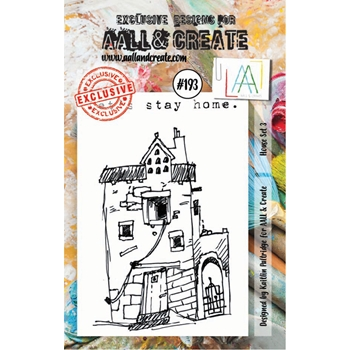 AALL & Create HOUSE SET 3 Clear Stamp Set aal00193
