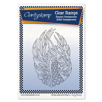 Claritystamp DRAGON Clear Stamp and Mask stafy106656a6