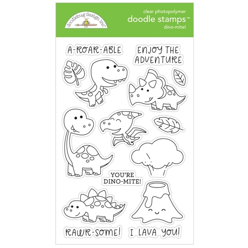 Doodlebug DINO-MITE Clear Doodle Stamps 6341 Preview Image