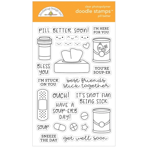 Doodlebug PILL BETTER Clear Doodle Stamps 6337 Preview Image