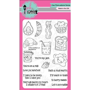 Pink and Main BREAKFAST FUN Clear Stamps PM0322