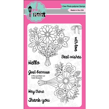 Pink and Main SWEET BOUQUETS Clear Stamps PM0326