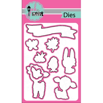 Pink and Main SKETCHED EASTER Dies PNM196