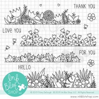 Ink Blot Shop Clear Stamp Set BOTANICAL BORDERS inbl057