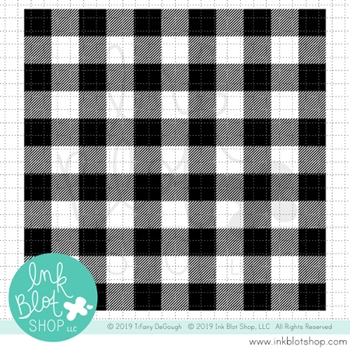 Ink Blot Shop Clear Stamp Set BUFFALO PLAID BACKGROUND inbl061