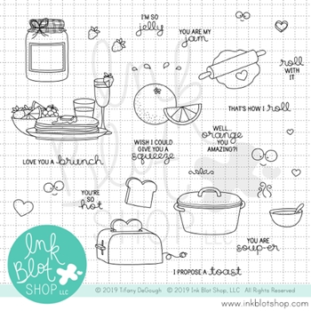 Ink Blot Shop Clear Stamp Set FOOD FOR THOUGHT inbl063