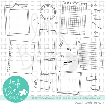 Ink Blot Shop Clear Stamp Set JOURNALING SPOTS inbl066