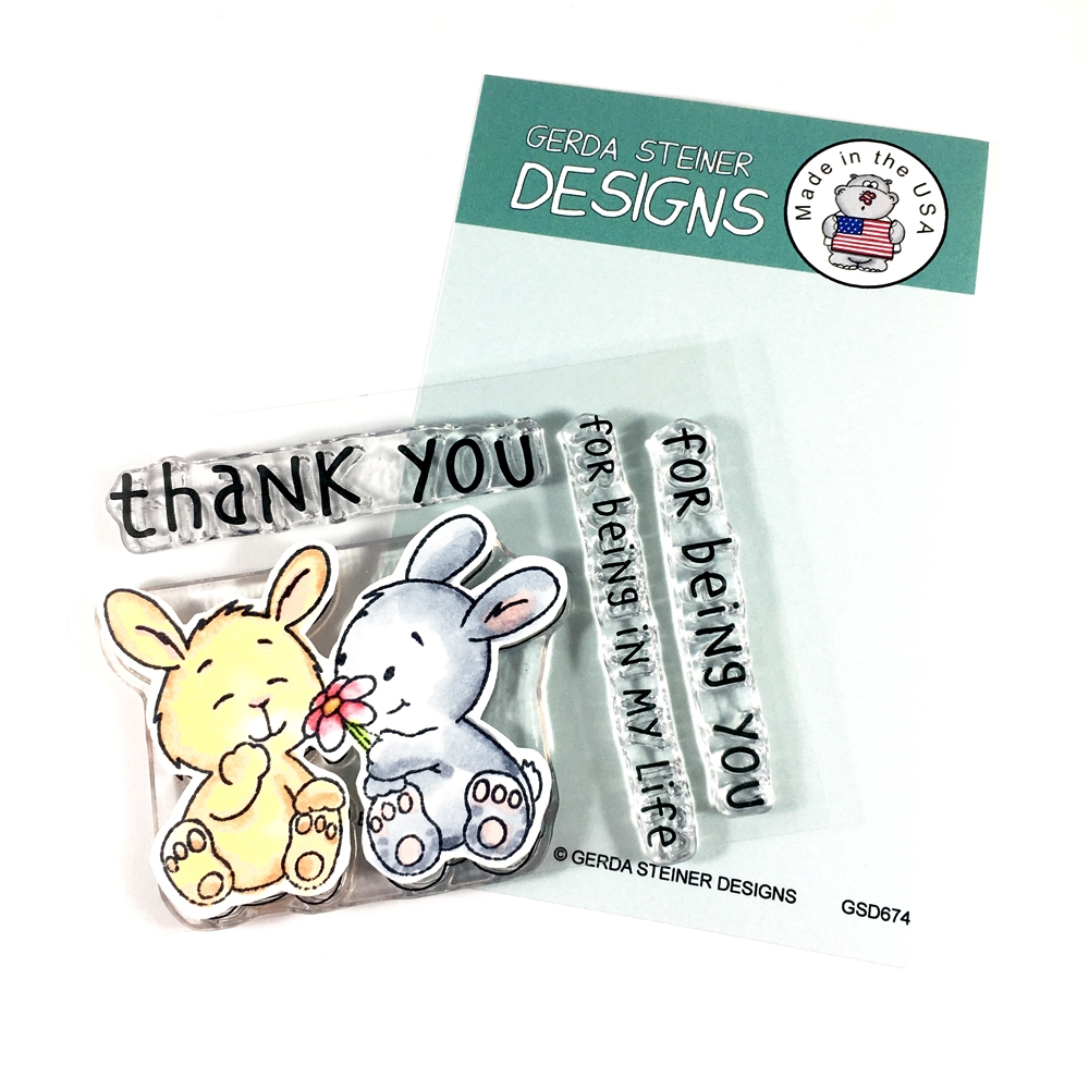 Gerda Steiner Designs BUNNY FRIENDS Clear Stamp Set gsd674 zoom image