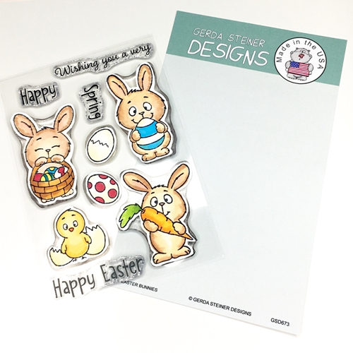 Gerda Steiner Designs EASTER BUNNIES Clear Stamp Set gsd673 Preview Image