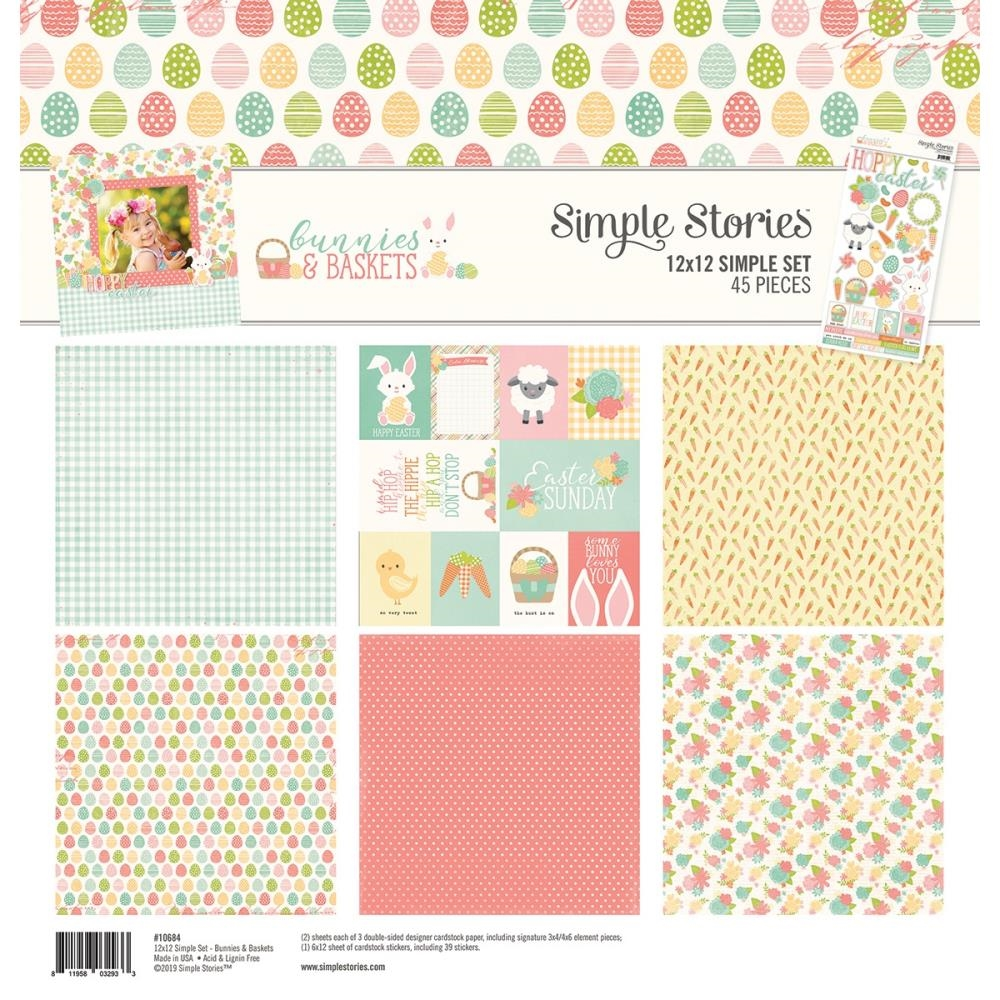 Simple Stories BUNNIES AND BASKETS 12 x 12 Collection Kit 10684 zoom image