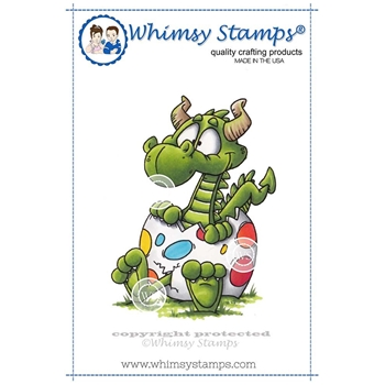Whimsy Stamps DRAGON EGG Rubber Cling Stamp DP1005*