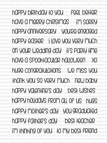 Clearly Besotted So Much To say Clear Stamp Set