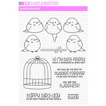 Clearly Besotted BUDGIE BUDDIES Clear Stamps