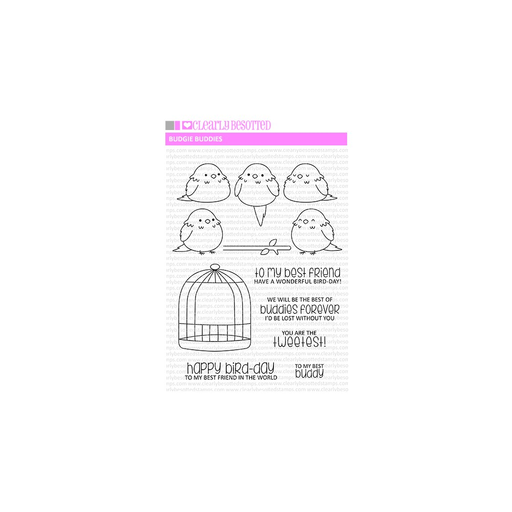 Clearly Besotted BUDGIE BUDDIES Clear Stamps zoom image