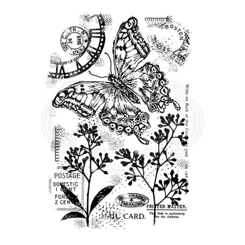 Woodware Craft Collection VINTAGE SWALLOWTAIL Clear Stamps frs750ww