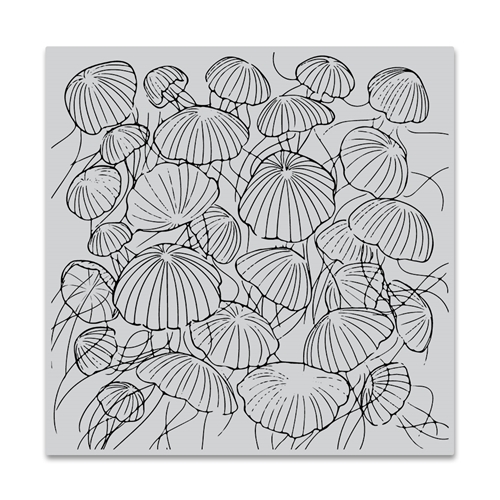 Hero Arts Cling Stamp JELLYFISH Bold Prints CG772 Preview Image