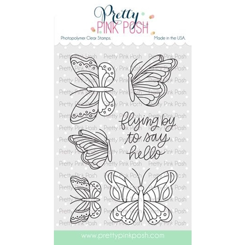 Pretty Pink Posh BEAUTIFUL BUTTERFLIES Clear Stamps Preview Image