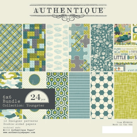 Authentique 6 x 6 YOUNGSTER Paper Pad ygn008 Preview Image