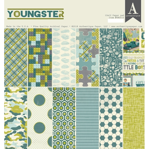 Authentique YOUNGSTER 12 x 12 Paper Pad ygn010 Preview Image