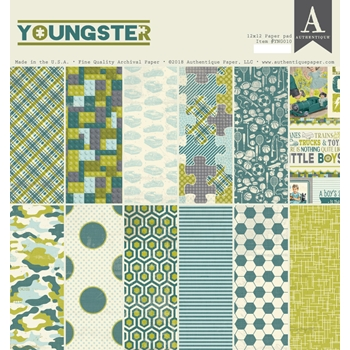 Authentique YOUNGSTER 12 x 12 Paper Pad ygn010