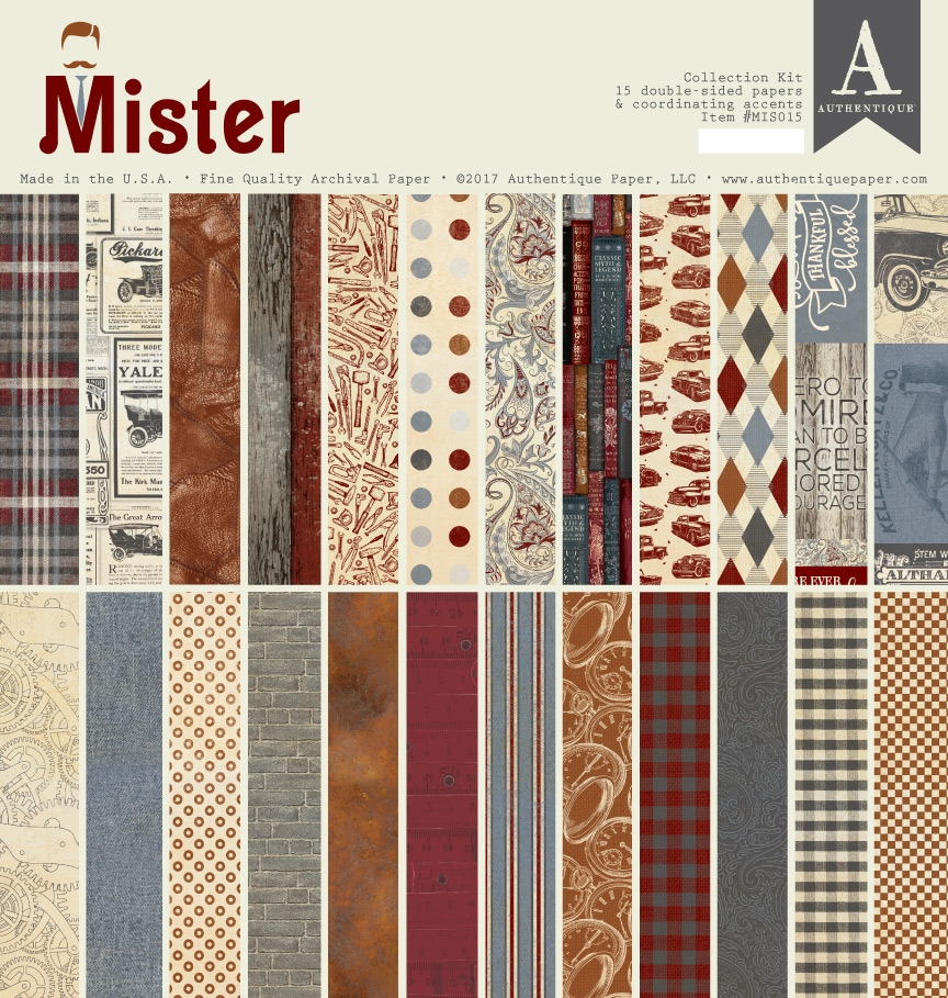 Authentique MISTER 12 x 12 Collection Kit mis015 zoom image