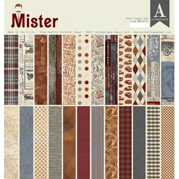 Authentique MISTER 12 x 12 Paper Pad mis016